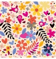 Flowers and birds pattern 3 vector