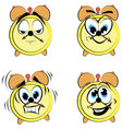 Cartoon alarm clock ikons vector