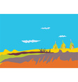 Autumn banner with fields sky vector