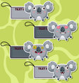 Four cute cartoon koalas stickers vector