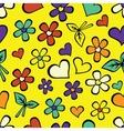 Cartoon seamless texture with hearts vector
