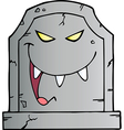 Laughing evil headstone vector