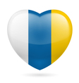 Heart icon of canary islands vector