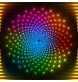 Abstract rainbow neon circle vector