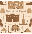 Landmarks of egypt seamless pattern vector