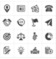 Trendy business and economics icons set 1 vector
