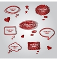 Speech red collection element for you design vector