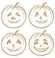 Pumpkin jack o lantern vector
