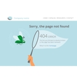 Green software bug was trapped page not found vector