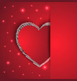 Hearts shape romantic greeting card vector