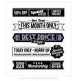 Retro vintage typographic business banner design vector