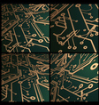 3d circuit board background vector