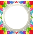 Holiday background with balloons frame vector