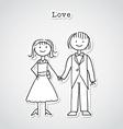Cute cartoon couple vector
