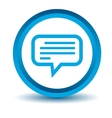 Blue talk icon vector