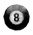Abstract geometric polygonal 8 ball billiards vector