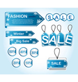 Winter tags vector