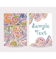 Set of decorative cards 2 vector