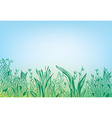 Summer grass border banner - hand drawn vector