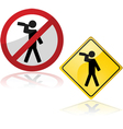 Drinking signs vector