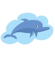 Leaping dolphin vector