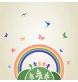 Children rainbow vector