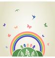 Children rainbow vector