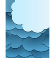 Paper cut clouds background vector