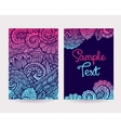 Set of decorative cards vector