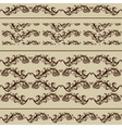 2 vintage borders and 2 seamless patterns vector