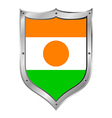 Niger flag button vector