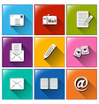 Mailing icons vector