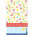Beach party background for banner or flyer vector