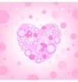 Circular heart effects background vector