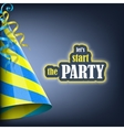Lets start the party holiday banner vector