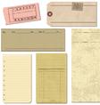 Vintage paper elements vector