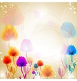 Multicolor flower background vector