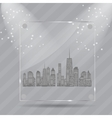 Realistic glass frames vector