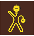 Light bulb man icon vector