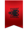 Ribbon banner - albanian flag vector