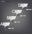 Time line info graphic white folded paper vector