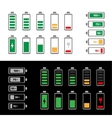 Simple battery icon set vector