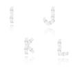 Paper alphabet letters font i j k l vector