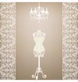 Mannequin and chandelier vector