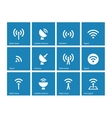 Radio tower icons on blue background vector