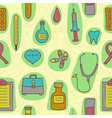 Seamless background with medical icons vector