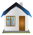 One-storeyed house vector