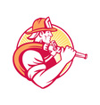 Fireman firefighter emergency worker vector