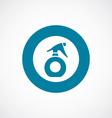 Sprayer icon bold blue circle border vector