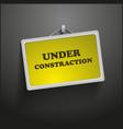 Under construction frame vector